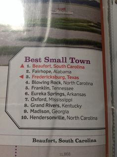 Best small towns in