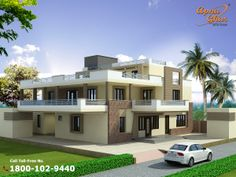 6 Bedrooms Duplex House Design in 550m2 (22m X 25m).  Like, share, comment. click this link to view more details - http://apnaghar.co.in/house-design-295.aspx  Questions? Call Toll-Free No.- 1800-102-9440