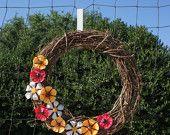Wild Flower Up-cycled Wreath....so pretty!!!