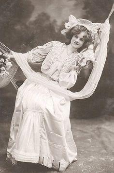 French lady on a hammock