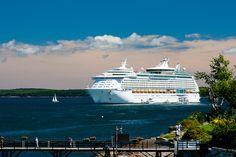Royal Caribbean Explorer of the Seas in Bar Harbor Maine