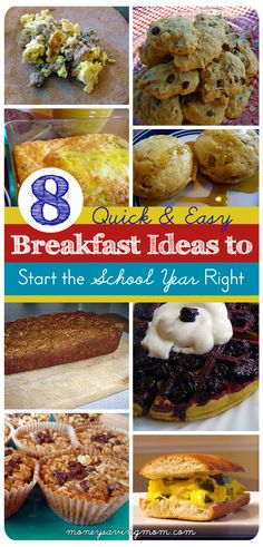 Looking for some quick & easy (and healthy!) breakfast ideas? This post has some great ideas & recipe links!