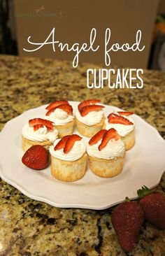 Wonderful solution when your want angel food, but not a whole cake! Angel Food Cupcakes from @Erica Cerulo Aquino Green Mama- Amber Sorrells #glutenfree #allgfdesserts
