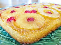 Easy Pineapple Upside-Down Cake. A favorite cake!