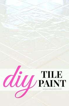 How to paint tile countertops-- Great fix for outdated kitchen and bathroom tile.