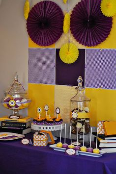 5th Grade Graduation Party - Purple and Gold!