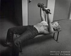 Marilyn lifting weights