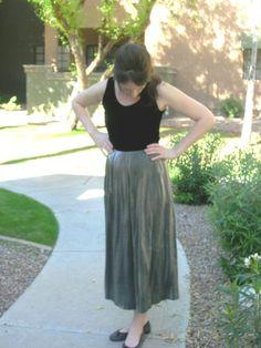 1980s black velvet and silver pleated skirt by Cherrybombsvintage, $30.00
