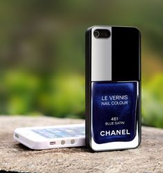 OOOh I want one of these! 'Chanel' iPhone case (and I don't even have an iPhone)