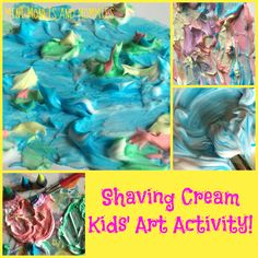 Monet Art with Shave Cream! I think this is pretty cool!
