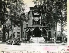Saratoga Elks Clubhouse entrance, Saratoga Springs, NY circa 1934. (Times Union Archives)