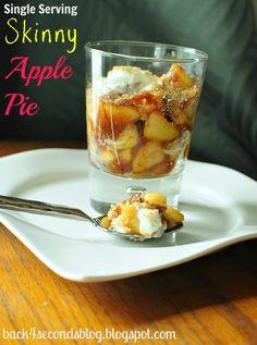 Skinny Single Serving Aple Pie singl serv, diet foods, skinni appl, healthy recipes, healthy treats, appl pie, whipped cream, dessert, apple pies