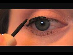 how to apply liquid eye liner... i need this