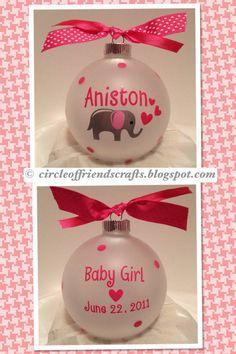 Photo on Baby Elephant Ornament | Cricut ideas