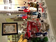 Slumped bottles by The Beaded Bottle can be found in Pizazz at the shops at Worthington Worthington Ohio!