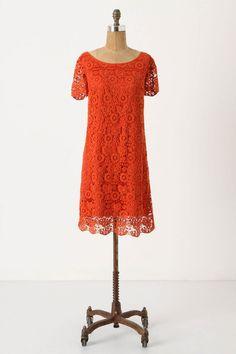 red-orange lace