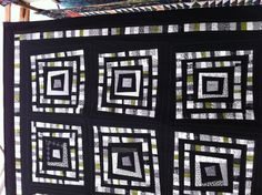 Hever black and white quilt