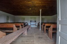 Inside of Wildasin Meeting House in Penn Township. via Blake Stough/Preserving York