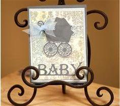 Celebrate the newest addition to the family with this antique design!