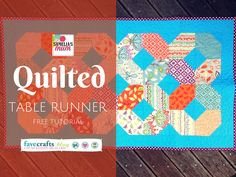 This quilted table runner is just gorgeous - and the tutorial is free!