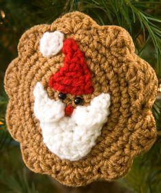 Santa Cookie Ornament