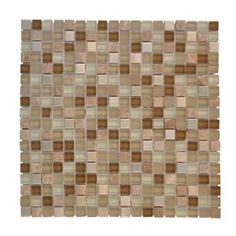 Warm Topaz 12 in. x 12 in. Tan Glass Mosaic Tile-99414 at The Home Depot
