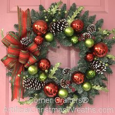 Winter Welcome Wreath - 2012 - #ArtificialChristmasWreaths #ChristmasWreaths #Wreaths #Wreath