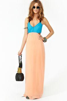 Colorblock maxi dress. <3