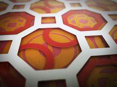 Geometric Modern paper print 12 x 12 by LostInNashville on Etsy