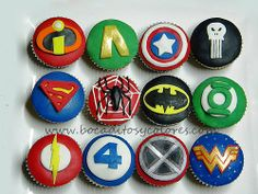 superhero icon cupcakes!