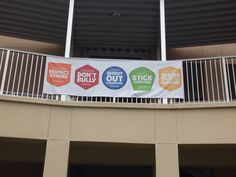 Boosterthon Camp High Five @ Bryant Elementary, Tampa FL 10/2013 Courtyard railing banner