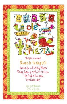 Fiesta Icons Invitation