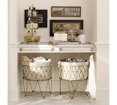 I love these french inspired laundry baskets... It's funny how the little things make a big statement.