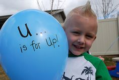 Letter U - balloon release