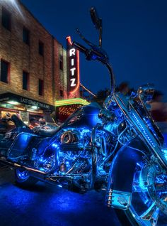 photo shop? either way it looks awesome. Biker Rally of Texas