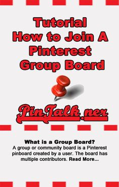 Tutorial How to Join A Pinterest Group Board http://pintalk.net/how-to-join-a-pinterest-group-board/