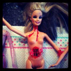 Gory Halloween Barbie Dolls