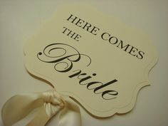Here Comes the Bride Wedding Ceremony Sign for your by wedology, Etsy.com