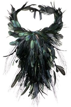 Alberta Ferretti - Feather Accessories - 2014 Fall-Winter