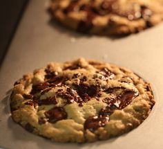 Salted Dark Chocolate Chunk Cookies!  The Best!