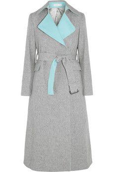 Sacai Sacai Luck belted wool-blend coat