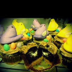 Inspired by Peeps. My version of an Easter S'mores cupcake. :)