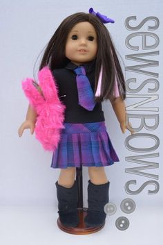 "Plaid Schoolgirl Outfit for 18"" dolls 