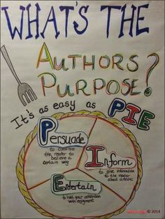 Teaching about author's purpose helps your students learn why the author wrote the story or article. Teaching author's purpose to your students is a great way to discuss the different varieties of text out there.