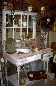 Rustic Potting Table | Potting Bench boberosa.com