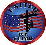 United We Climb Lineman Decal lineman decal