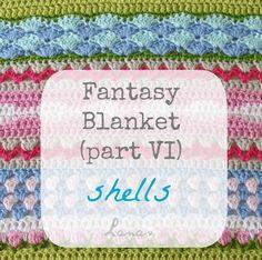 Lanas de Ana: Fantasy Blanket: Shells (VI)