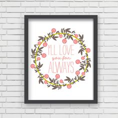 Love You For Always Art Print