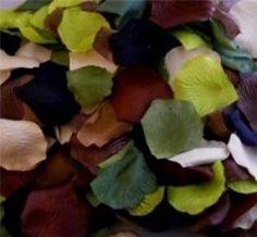 camo color silk petals