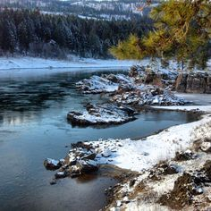 Clark Fork River along the Powerhouse River Trail, December 2013